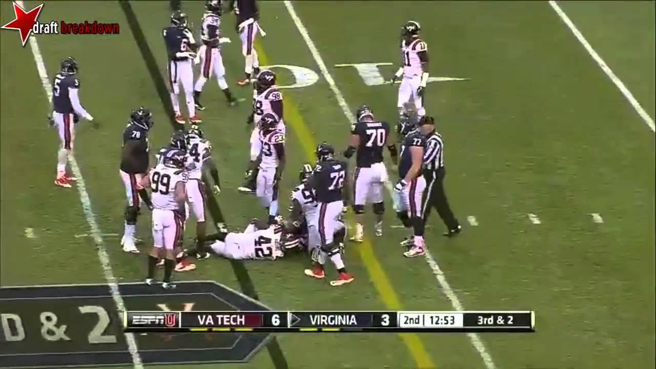 Morgan Moses vs Virginia Tech (2013)