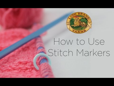 Using Stitch Markers In Knitting : Video: How to Use Stitch Markers in Knitting & Crochet Lion Brand Notebook