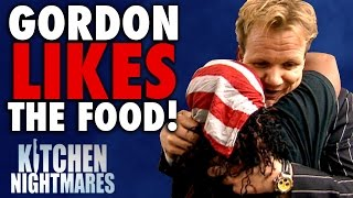 Video 6 Times Gordon Ramsay Actually LIKED THE FOOD! | Kitchen Nightmares COMPILATION MP3, 3GP, MP4, WEBM, AVI, FLV Januari 2019