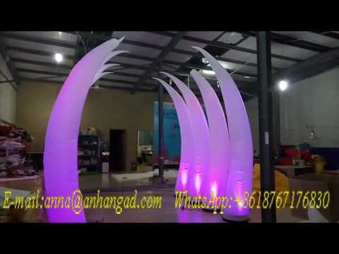 colorful light inflatable ivory for wedding/party decoration