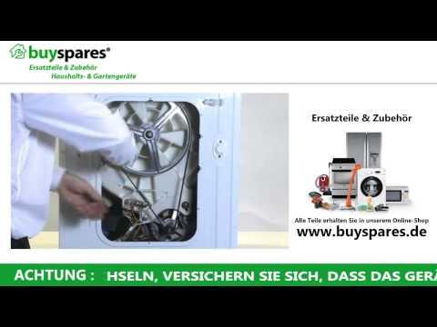 Anleitung: So den Keilriemen einer Waschmaschine austauschen