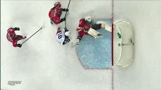 Reto Berra's Bicycle Kick Save - YouTube