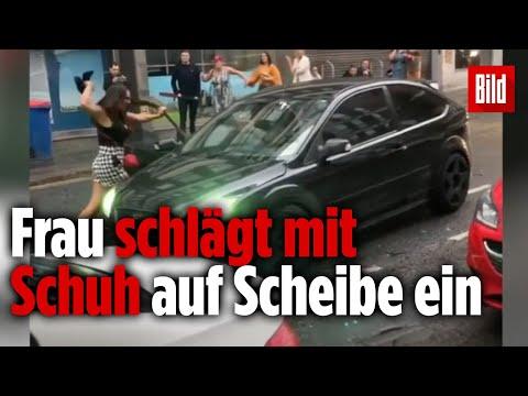 Nachdem Streit eskaliert: Autofahrer versucht Mann zu überfahren, der Frau zu Hilfe kam
