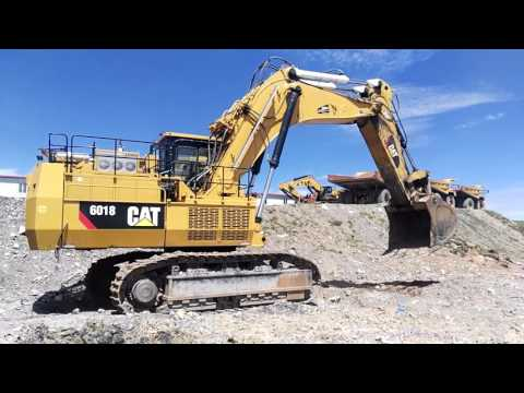 CATERPILLAR PALA PARA MINERÍA / EXCAVADORA 6018 equipment video XVbU5JATeQI