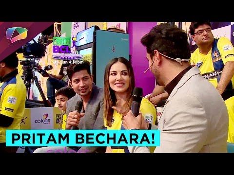 Pritam and Sumeet flirt with Sunny Leone.
