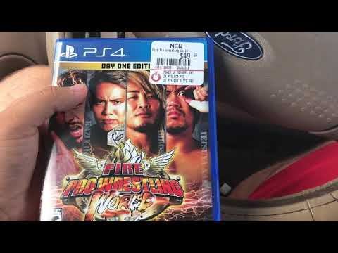 Fire Pro Wrestling World Day One Edition PS4 Unboxing (I Only Paid $12 For It!)