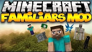 Minecraft: FAMILIARS MOD! (Companions With Incredible Abilities!) | Mod Showcase