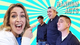 Positive Pranks! Feat. BYU Vocal Point - Workers Become A Capella Singers? - Random Acts
