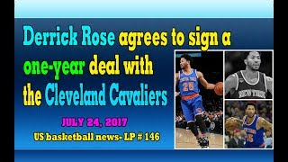 Derrick Rose agrees to sign a one-year deal with the Cleveland Cavaliers - LP 146Please Subscribe  : https://goo.gl/cFYlJ7Derrick Rose agrees to sign a one-year deal with the Cleveland Cavaliers with a contract worth $ 2.1 million.Derrick Martell Rose was born October 4, 1988. He is an American professional basketball player of the National Basketball Association (NBA). The Cleveland Cavaliers look for Derrick Rose after Irving, who defends their starting point, informs them that he wants to leave Cleveland after experiencing his first six seasons in the careers with the team.Through the 2016–17 season, the Cavs have made 21 playoff appearances, and won six Central Division titles, four Eastern Conference titles, and one NBA title.On January 10, 2017, Rose was fined an undisclosed amount after he reportedly flew to Chicago to be with his mother but did not notify team officials ahead of their game against the New Orleans Pelicans on January 9. Eight days later, he matched his season high with 30 points in a 117–106 win over the Boston Celtics. On April 2, 2017, he was ruled out for the rest of the season after tearing the meniscus in his left knee, necessitating a fourth round of knee surgery for Rose in his nine-year career.Therefore, The question is whether Derrick Rose can stay healthy. He left knee while playing for the Knicks. More Rose has had four knee operations for the past six years.Other info about Derrick Rose:Rose has struggled with significant knee injuries since his 2010–11 MVP campaign. In the first round of the 2012 NBA Playoffs against the Philadelphia 76ers, Rose tore his ACL in his left knee. Rose required surgery and was subsequently sidelined for the entire 2012–13 season.Rose back to play in 2013-14. However, on November 22, 2013, during an annual match for the Portland Trail Blazers, Rose injured his right field causing him to miss the rest of the season. Rose came back again in the following season, but knee injuries continued to writhe him, leaving him to miss 30 games. In June 2016, he was traded to the New York Knicks.More info about The Cleveland Cavaliers:The Cleveland Cavaliers, also known as the Cavs, are an American professional basketball team based in Cleveland, Ohio....ThanksPlease subscribe, like,shareLucy protopnail channel – Part : World NewsUS basketball news.My blog : https://lphotnews.blogspot.com/