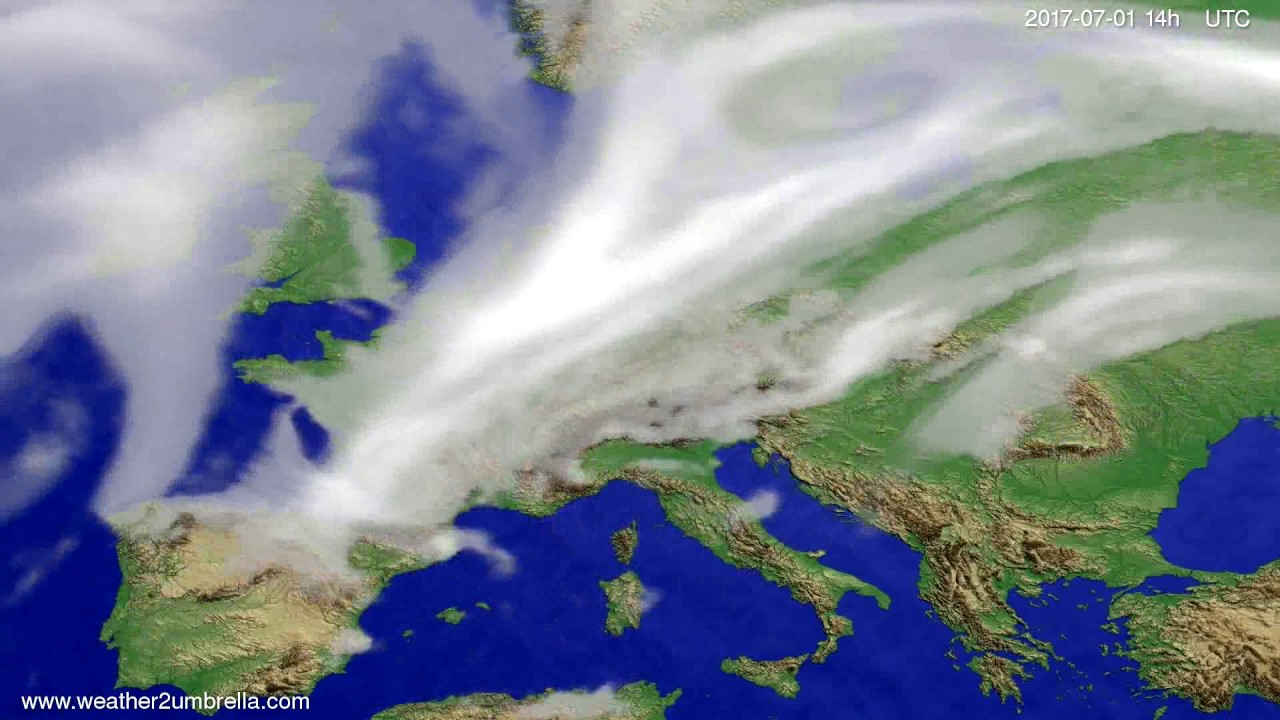 Cloud forecast Europe 2017-06-27