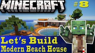 Minecraft Let's Build: Modern Beach House #8