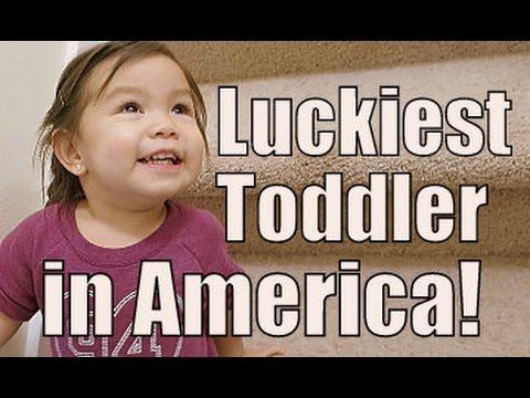 Luckiest Toddler in America- January 14, 2015 ItsJudysLife Vlogs