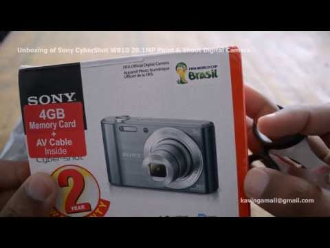 Unboxing of Sony CyberShot W810 20.1MP Point & Shoot Digital Camera