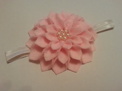 felt flower headband - tutorial