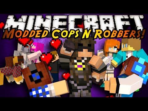 Minecraft Mini-Game : MODDED COPS N ROBBERS! BOYFRIENDS!