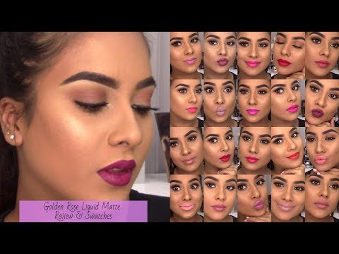 Video Golden Rose Liquid Matte Review and Swatches || Sanesh Makeup download in MP3, 3GP, MP4, WEBM, AVI, FLV January 2017