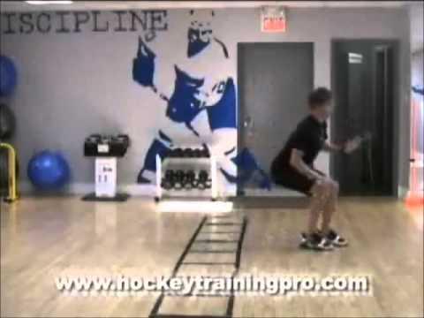 Agility: Shuffle Ladder Drill:Off-Ice Hockey Goalie Drills