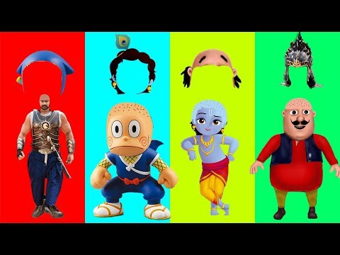Wrong Hairs Motu Patlu Bahubali Ninja Hattori In Hindi Little Krishna Finger Family Song