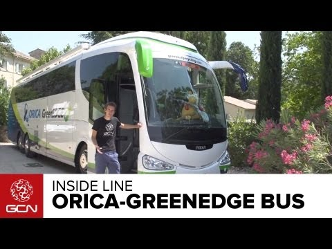 Tour De France 2013 - Inside Line - ORICA-GreenEdge Team Bus