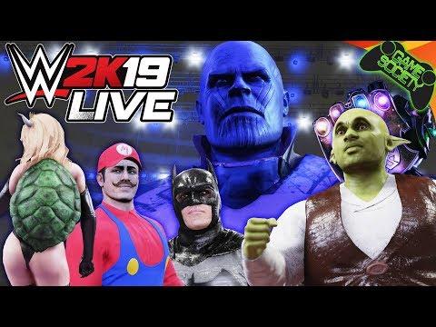 PIMPAMANIA 2 | Bowsette, Thanos, THICC Batman, Shrek and more - WWE2K19