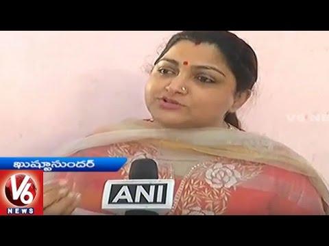 Kushboo-Urge-People-To-Participate-In-Aakrosh-Divas-Demonetization-V6-News