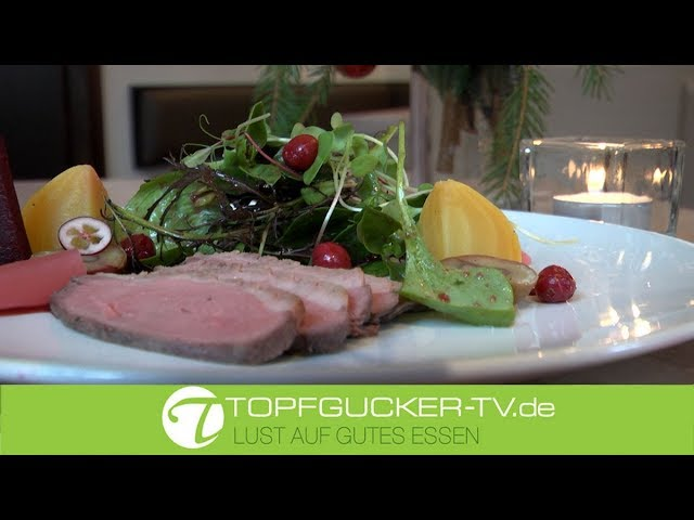 Marinierte Gänsebrust | Cumberlandsauce | Wintersalate | Cranberry Dressing | Rezeptempfehlung Topfgucker-TV