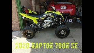8. 2020 RAPTOR 700R SE green/blue Mountain trails