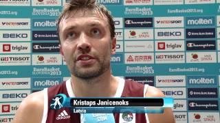 Postgame K. Janicenoks, T. Rice, MNE-LAT EuroBasket 2013