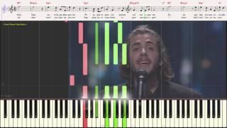 Amar Pelos Dois - Salvador Sobral (Eurovision 2017) (Ноты и Видеоурок для фортепиано) (piano cover)