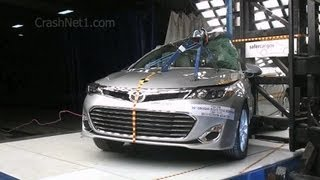 2013 Toyota Avalon / Hybrid | Pole NCAP Crash Test By NHTSA | CrashNet1