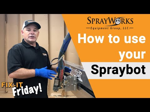 Using the Spraybot for spray foam automation