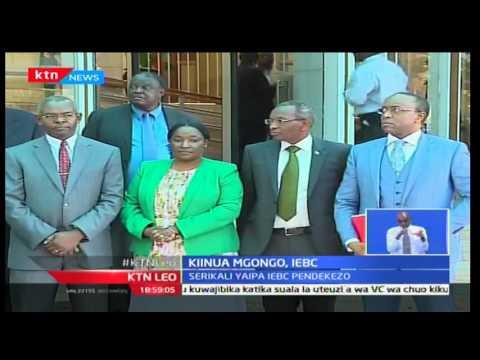 KTN Leo: Serikali imewapa makamishana wa IEBC pendekezo la malipo, Septemba 28 2016