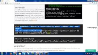 In this video you will learn about installation procedure of chocolaty in windows operating systemDon't forget to subscribe TechSiragugalWebsite :  http://www.techsiragugal.com/More Videos: https://www.youtube.com/c/TechSiragugalFacebook: https://www.facebook.com/techsiragugalGoogle Plus: https://plus.google.com/u/0/108349254874239693267/posts