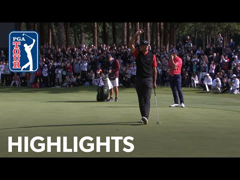 How Tiger Woods won his 82nd PGA TOUR title  ZOZO 2019 Extended Highlights