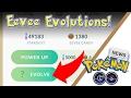 Eevee Evolutions! Testing the New Question Mark Eevee Evolve Button! Pokemon GO 0.57.2 Update
