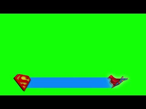Superman Lower Third _ 3D Logo _ Full HD [GreenScreen]] (видео)