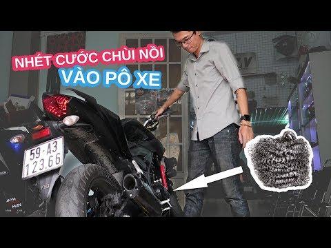 Yamaha MT-03 độ pô bằng miếng cước chùi nồi 5000 đồng - Thời lượng: 11 phút.