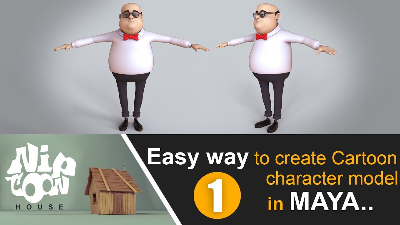 how create easy cartoon character models 3ds max tutorials niptoon house