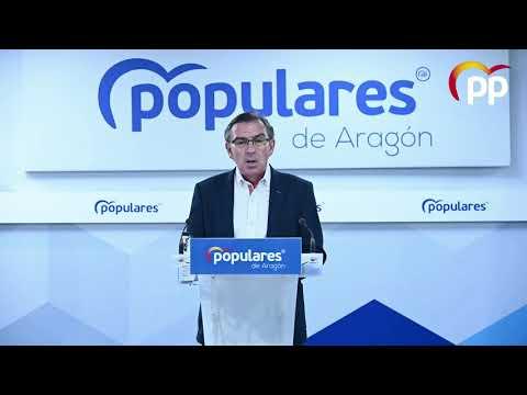 """""""La incapacidad de este Gobierno deja de lado cuestiones clave para el desarrollo de Aragón"""""""