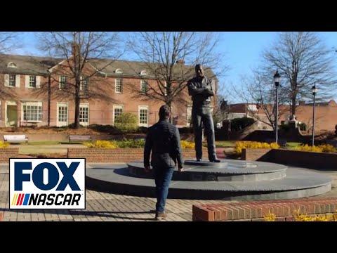 Jeff Gordon visits Dale Earnhardt's statue, explains his No. 3 tribute: 'I miss him' | FOX NASCAR