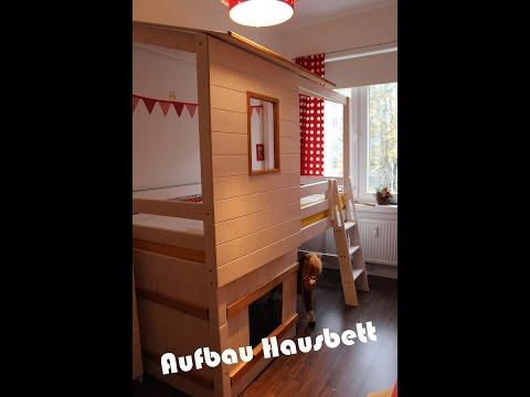 Aufbau Hausbett I Hochbett I Familyvlog