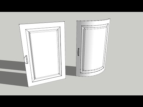 Sketchup tutorial easy Shape bender tool - bending doors