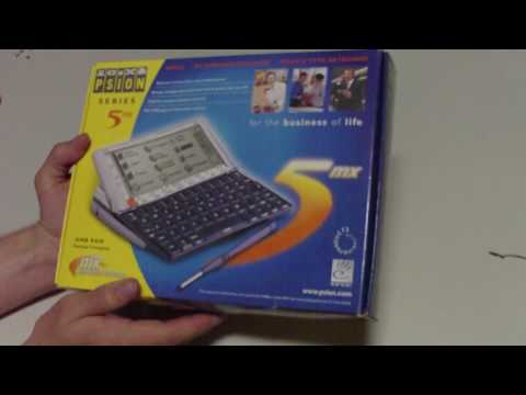 Psion Series 5mx Unboxing after re-finding it from storage [HD/720p]