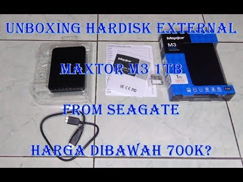 UNBOXING MAXTOR M3 1TB! EXTERNAL HARD DRIVE FROM SEAGATE! - #MRPSUBX #13