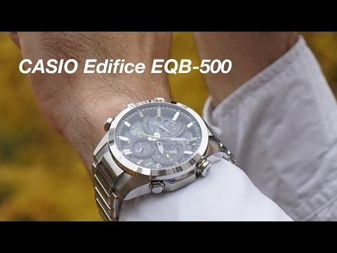 Обзор Casio Edifice EQB-500 (видео)