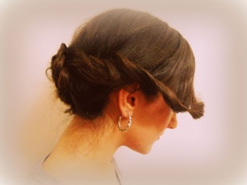 In stile anni '50 - Capelli raccolti con french braid e twist Hairstyle Tutorial 8