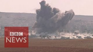 Video shows massive Kobane blast