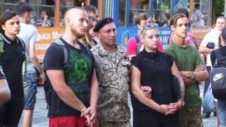 У Львові бійці батальйону ОУН пікÐ...
