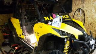 7. Can am maverick oil change / service