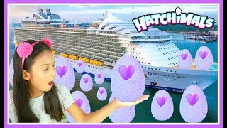 Giant Surprise Egg Hunt On The World's Biggest Cruise Ship Hatchimals Colleggtibles Toys.There is a new Hatchimals coming! Hatchimals Glittering Garden™! Who's inside? It's a sparkly surprise! Hatch with us to find out!Thank you Spin Master for sending these Hatchimals Colleggitbles to us.❤❤❤Social Media❤❤❤♥ Please Subscribe! https://www.youtube.com/c/tianahearts♥ My Twitter: http://twitter.com/TianaHearts♥ My Instagram: http://instagram.com/TianaHearts~~~~~~~~~~~~~~~~~~~~~~~~~~~~~~~~~~~~~~~~~~~~Hi!! Welcome to my channel, my name is Tiana (TT). Mommy and I make videos on stuff that we love and enjoying doing. Here you will find DIY's, toy reviews, vlogs, playing with toys etc..This Channel is family and kid friendly :) Please don't forget to subscribe so you'll know when a new video is posted. If you have any video suggestions let me know :) Thank you for your support  xoxox Tiana & Mommy HeartsMusic is Royalty Free : https://www.audioblocks.com/stock-audio/kids-having-fun.htmlhttp://www.bensound.com/royalty-free-musicKlonkey DonkeyThe Happy SongCuriousArtist: Nicolai HeidlasYoutube Kids,Toystosee,Freak World,Toys AndMe,Kaycee & Rachel In Wonderland,freak,freak split,Pringles VS Real Food Challenge,sister's,sisters,sophia,sarah,toys to see,bad kids,bad kid,family fun,kids fun,kids,play,playtime,for kids,Vlad Crazy Show,SIS vs BRO,Goo Goo Gaga Bad Baby Nursery,DIY Chocolate Candy Fidget Spinner! (Play Doh Molds)Bad Kids Steals Power Wheels Ride On Car and GO TO Jail IRL! Kids Driving Car Family Fun Pretend